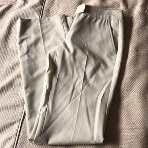 Theory NWT beige straight leg dress pants